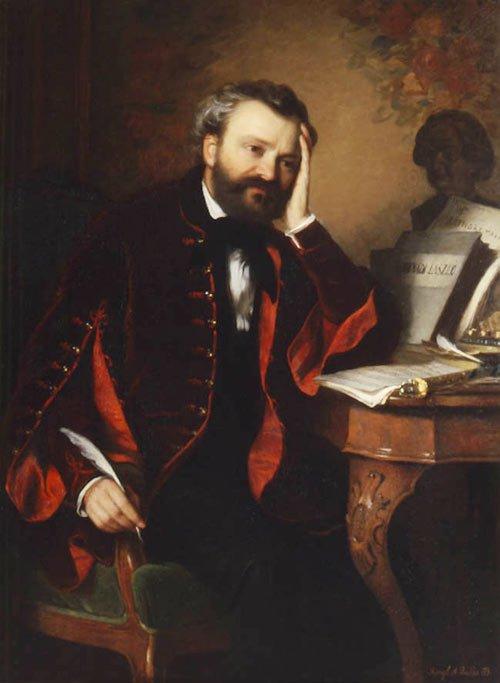 Erkel Ferenc Györgyi Giergl Alajos festményén (1850-es évek)